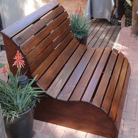 diy modern outdoor Garden bench or love seat