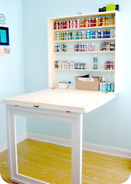Home Dzine Home Diy Drop Down Workbench Or Craft Table