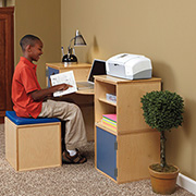 Modular cube desk for child's bedroom