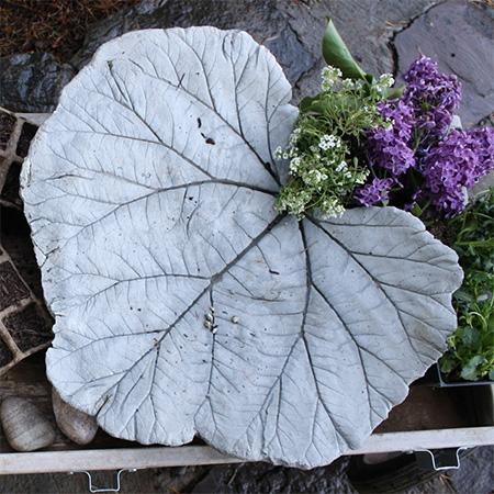 Home Dzine Garden Ideas Concrete Leaf Ornament Or Water