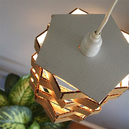 Quick and easy cardboard lampshade