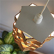 Quick and easy cardboard lamp