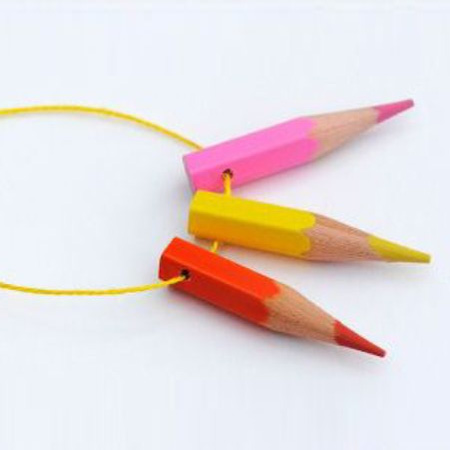 Colourful pencil necklace