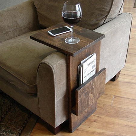 After posting this armchair tray for drinks books or magazines on facebook readers requested that I post a step-by-step for this quick and easy project ... & HOME DZINE Home DIY   Armchair tray for drinks books or magazines