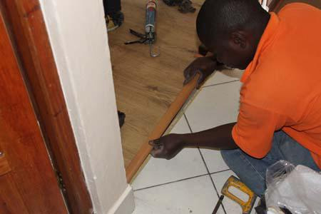 If Necessary Use A Circular Saw Or Jigsaw To Trim The Height Of Any Doors If The Level Of The Floor Has Been Raised Slight Height Adjustment Can Be Done