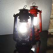 Turn paraffin hurricane lamp into LED lamp