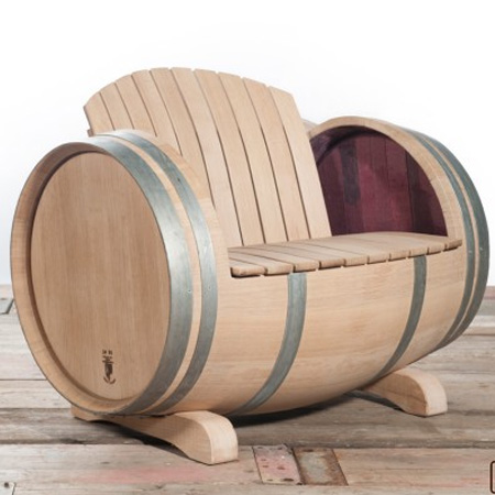 Home Dzine Garden Ideas Garden Furniture Made From Wine Barrels