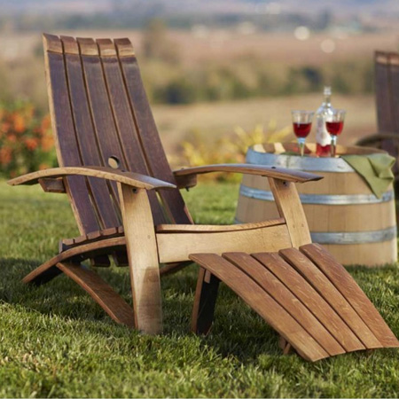 make garden or outdoor furniture from wine barrels adirondack chair