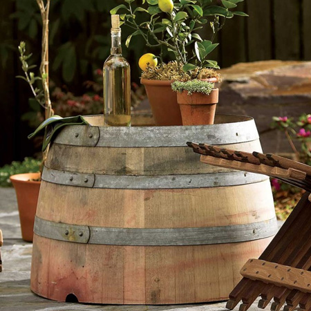 make garden or outdoor furniture from wine barrels patio table