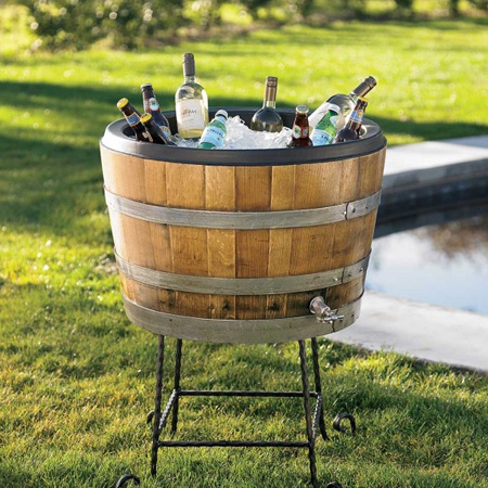 make garden or outdoor furniture from wine barrel