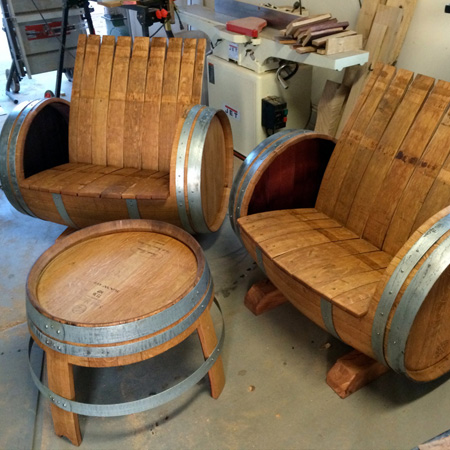 wood barrel furniture. Garden Furniture Made From Wine Barrels Wood Barrel W