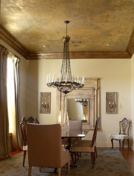 Decorating ideas for a ceiling traditional gilded ceiling