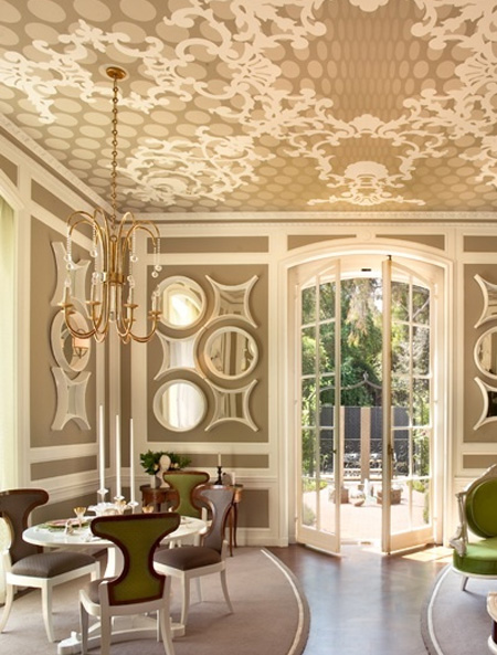 Decorating ideas for a ceiling wallpaper ceiling