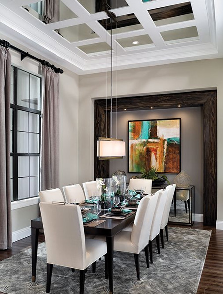 Decorating ideas for a ceiling mirror tiles
