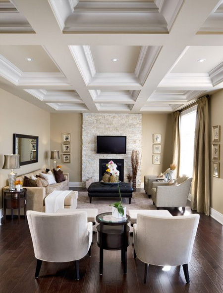 Decorating ideas for a ceiling coffered