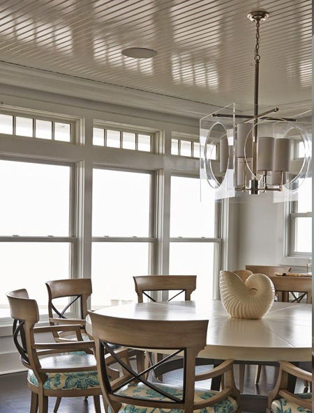 Decorating ideas for a ceiling plank