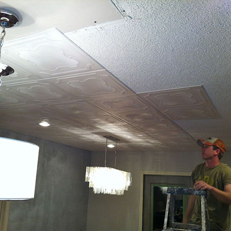 Home Dzine Home Decor Cover Up Popcorn Or Textured Ceiling
