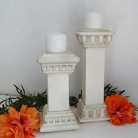 Faux vintage candle holders rustoleum 2x heritage white spray paint