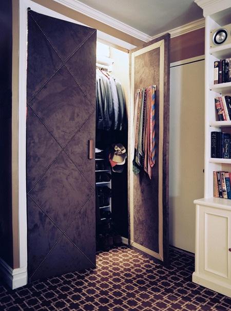 Home Dzine Bedrooms Dress Up Closet Doors With Fabric