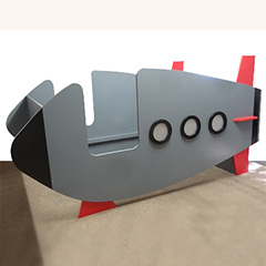 rocket or spaceship bed for little boy