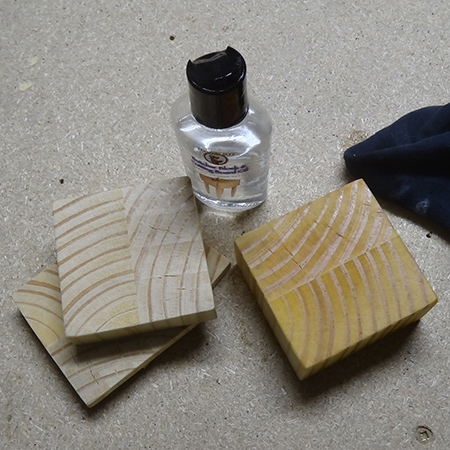 pine offcut coasters butcher block oil and conditioner