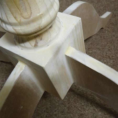 make diy pedestal table leg