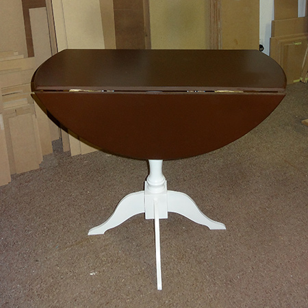 diy circular round drop leaf dining table flaps down