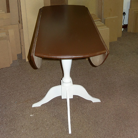 diy circular round drop leaf dining table