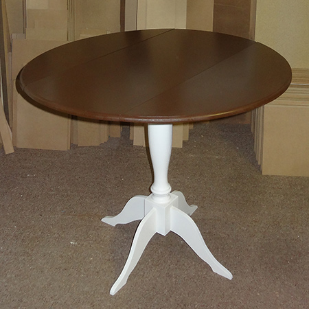 diy circular round drop leaf dining table