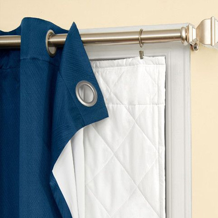 double layer curtains with insulation for winter