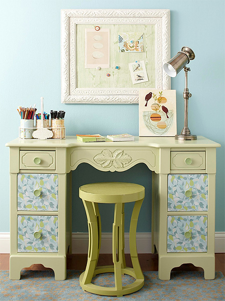 Instantly transform old fashioned furniture with a coat or two of chalk paint