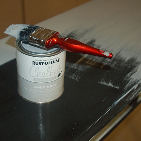 When using chalk paint you need to apply the paint fairly quickly.