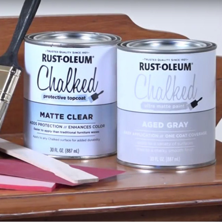 Rust-Oleum Chalked provides an ultra matte finish