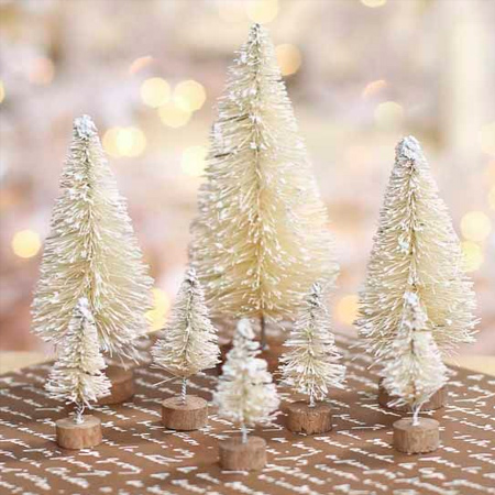 Make a sisal bottle brush Christmas tree