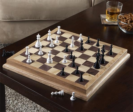You can make this stylish chess board using pine-faced plywood or veneered MDF and your Dremel DSM-20