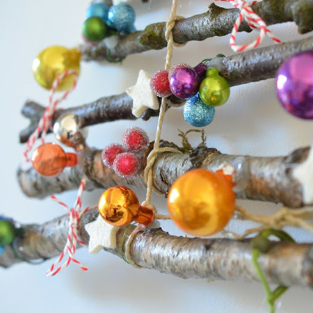 broken ornaments - use these to decorate your branch tree