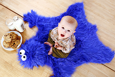 How to make a cookie monster play mat or rug