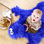 Make a cookie monster rug or play mat