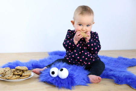 Use super-soft plush fabric to make everyone's favourite cookie eating monster rug