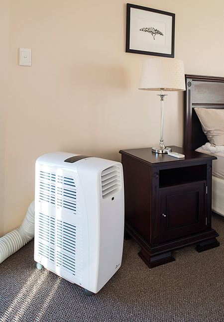 Right now, the cheapest portable air conditioning unit on the market is the GMPC10, which costs R3990 and cools rooms that are up to 25 square meters in size