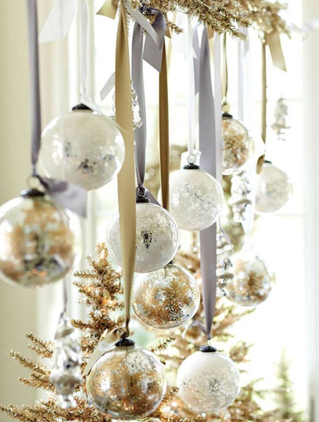 Don't throw away old or broken tree ornaments and baubles when you can repurpose them in new ways to make your own festive decorations