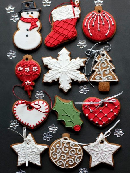 edible gingerbread festive decorations