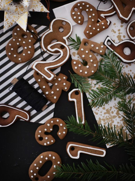 edible gingerbread numbers festive decor