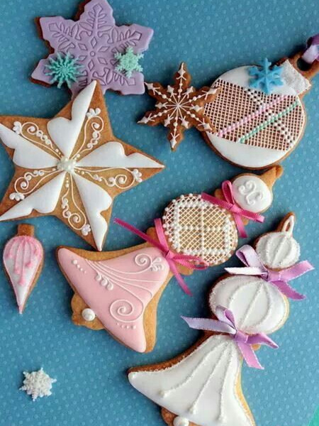 edible gingerbread iced biscuits festive decorations