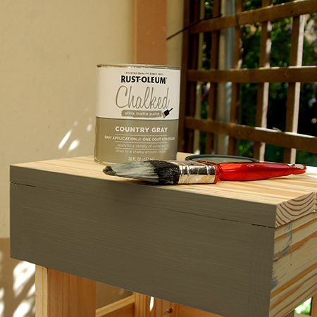 Finish off your new bedside table with Rust-Oleum Chalked ultra matte paint in your choice of colour