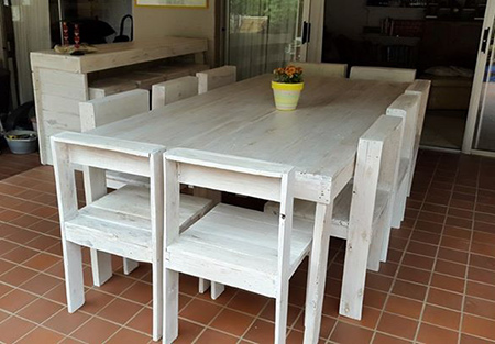 Dining Tables And Chairs Made From Reclaimed Pallets