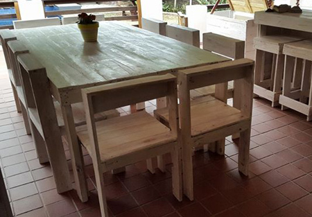 Reclaimed pallet furniture has become extremely popular over the past couple of years. You only have to view various designs on the Internet to see that pallets are being used for a variety of furniture projects.