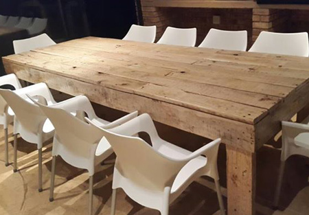 Mix It Up With A Reclaimed Pallet Dining Table And