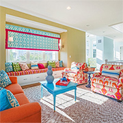 Don't be afraid to introduce colour to a home