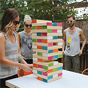 DIY giant jenga game